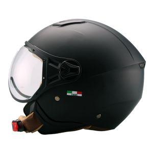 HELM VITO Jet moda / mat zwart bruine binnenkant