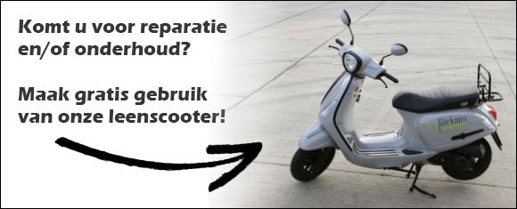 Leenscooter tijdens de reparatie