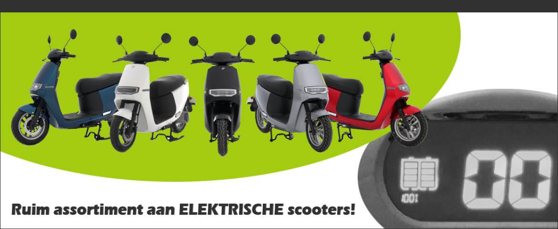 Ruim assortiment elektrische scooters